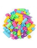 80Pcs Baby Kids Puzzle Educational Plastic Building Block Educational Toy