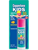 Coppertone Kids Stick SPF 55, .6-Ounce  (Pack of 3)