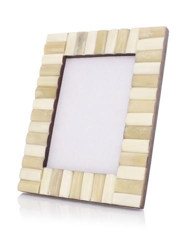 Purva White/Tan Thick Rolled Frame (White/Tan)