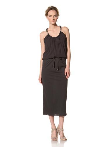 Les Copains Women's White Label Long Dress (Asphalt)