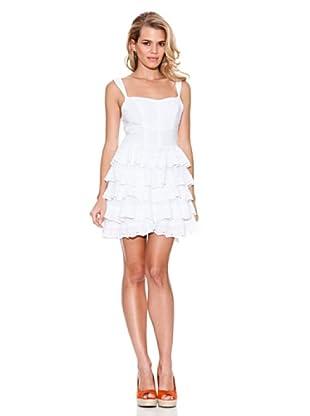 Guess Vestido Encaje (Blanco)