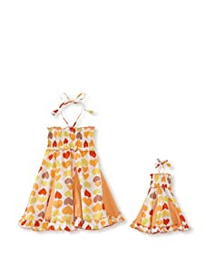 Me & Dolly by 4EverPrincess Girl's Swingy Dress (Orange Multi)