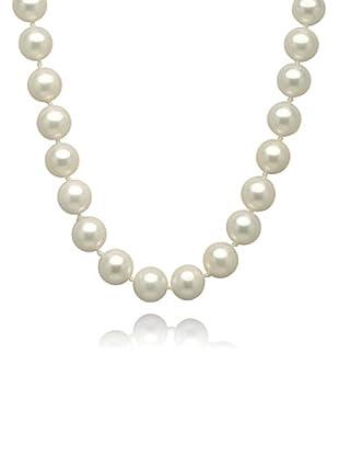 Perldor 60650021 - Collar de mujer de plata de ley con perla natural Blanco 50 cm