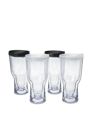 AdNArt Set of 4 Brew to Go (Black/White)