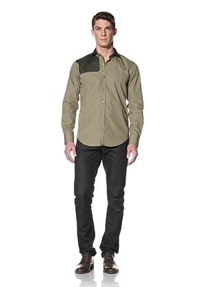 Simon Spurr Men's Two-Tone Shirt (Military Green)