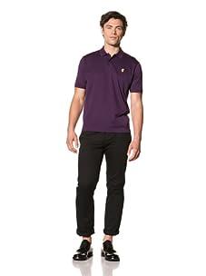Pringle of Scotland Men's Pique Polo (Thistle Purple)