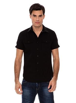 Springfield Camisa Dobby (Negro)