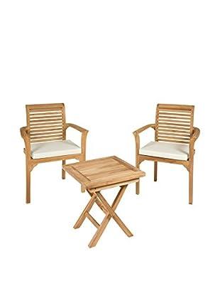 Set, 3-teilig Tisch mit zwei Stühlen