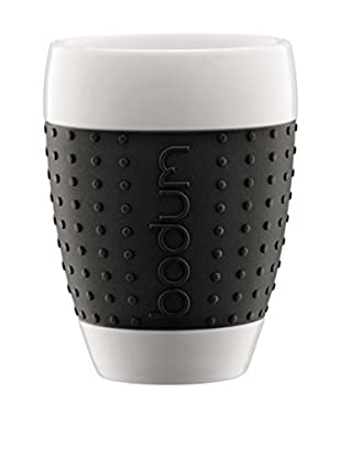 Bodum Kaffeetasse 2er Set Pavina 0.4 L schwarz/weiß