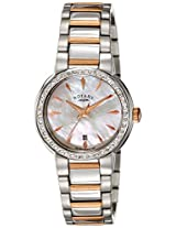 Rotary Analog White Dial Women's Watch-LB0284441