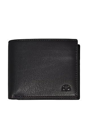 PHILIPPE VANDIER Brieftasche Logo schwarz