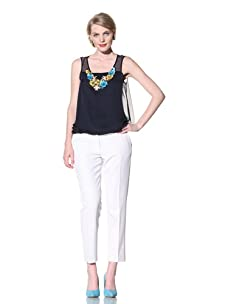 Chris Benz Women's Sleeveless Top with Beading (Navy)