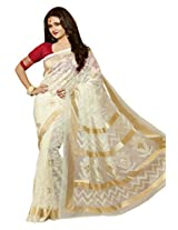 Roop Kashish Bhagalpuri Silk Saree (12504 _White)