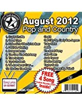 All Star Karaoke August 2012 Pop and Country Hits (ASK-1208)