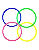 """Blovess 12pack 12cm/4.7"""" Medium Size Plastic Toss Rings for Speed and Agility Practice Games"""