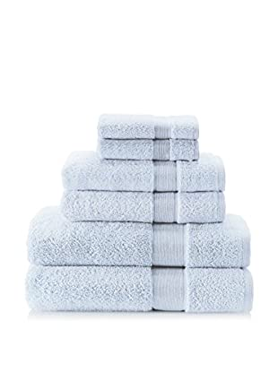 Espalma 6-Piece Signature Bath Towel Set (Water Blue)