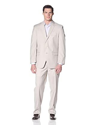 Calvin Klein Men's Malik Solid Suit (Light Tan)