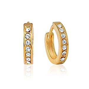 Mahi Gold Plated Fashion and You Earrings with Crystals