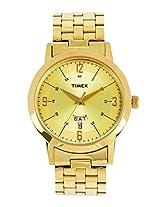 Timex Classics Analog Gold Dial Men's Watch - TI000T117