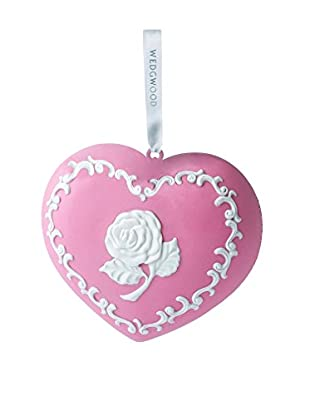 Wedgwood Breastcancer.Org Heart Ornament, Pink