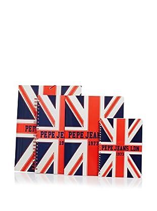 Pepe Jeans Carpeta + 3 Cuadernos Flag Azul Marino