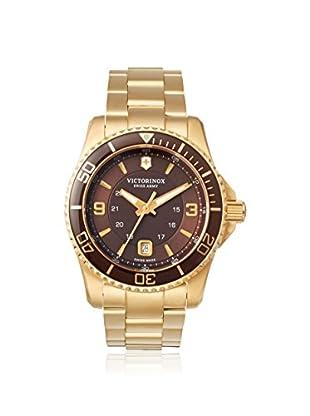 Victorinox Swiss Army Men's 241607 Maverick GS Gold/Brown Stainless Steel Watch