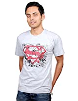 UberPlush Men's Casual T-Shirt UPRN10020GSM ( Grey )