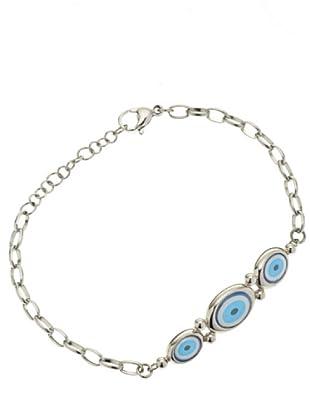 Miss Sixty SMKZ05 - Blue Eyes - Pulsera de mujer de acero inoxidable, 21 cm