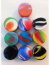 10 Pcs Wholesale Lot 5ml Silicone Non Stick Jars Nonstick Containers