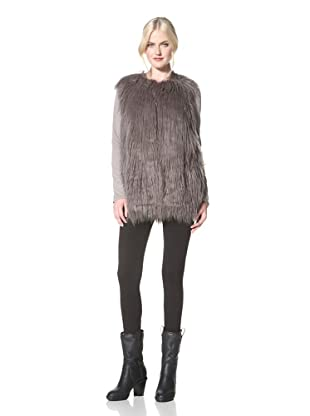 Hawke & Co. Women's Faux Fur Vest (Ash)