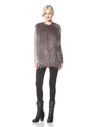 Hawke & Co. Women's Faux Fur Vest (Ash)