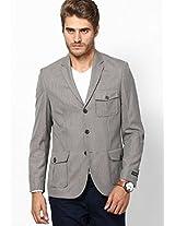 Beige Regular Fit Jacket & Blazer