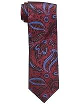 Haggar Men's Paisley Tie, Red, One Size