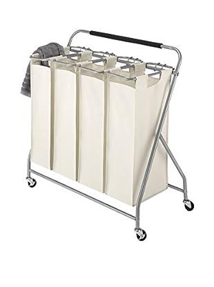 Whitmor 4-Bag Laundry Sorter, Tan