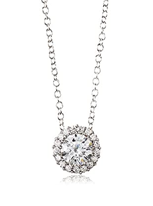 CZ by Kenneth Jay Lane Round CZ Pendant Chain Necklace