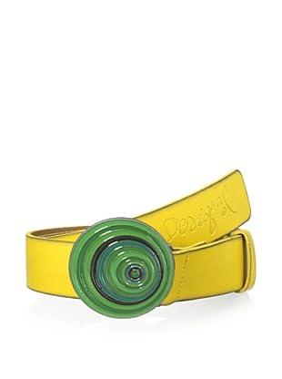 Desigual Women's Swirl Belt (Yellow Multi)