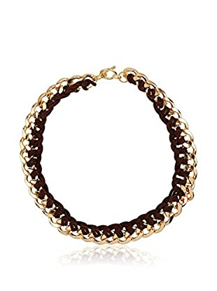 Cortefiel Cadena Cords Link Short Necklace
