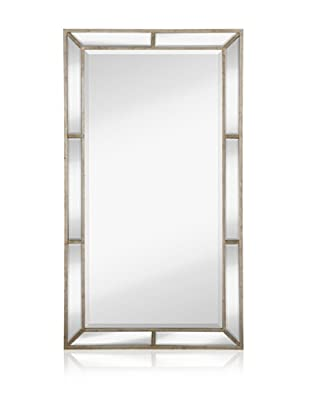 Majestic Mirrors Beveled Panels Mirror (Antique Silver)