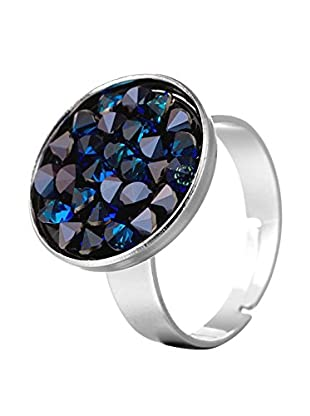 SWAROVSKI ELEMENTS Anillo Round Azul