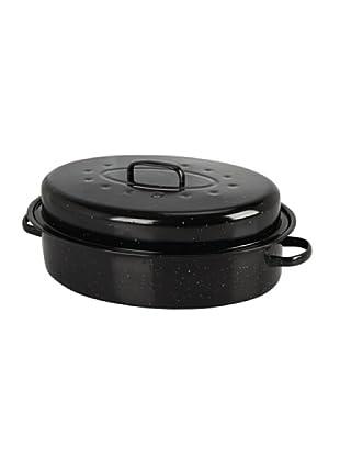 Crealys Cazuela asadora en acero negro