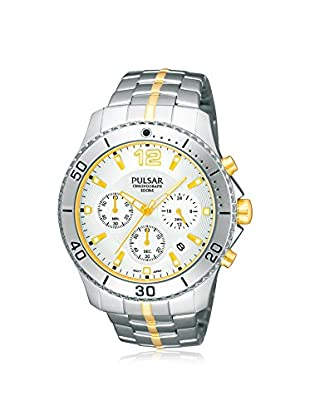 Pulsar by Seiko Men's PT3291 On The Go Two-Tone/Silver Stainless Steel Watch