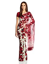 Satyapaul Saree with Blouse Piece (RD9010_02_SY519-0337_Maroon)