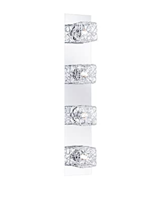Trio Leuchten Balken in nickel matt mit Aluminium-/Drahtgefelcht 11,5x67x13 cm