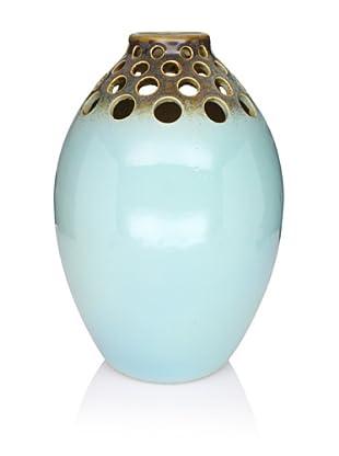 Pacific Décor Oval Vase, Aquamarine