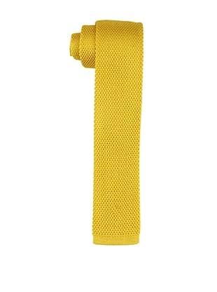 Desanto Men's Knitted Tie, Yellow