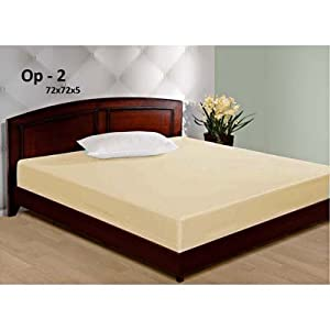 Qshop Water Resistant-Double Bed Size Mattress Cover - 72X72X5 Inches