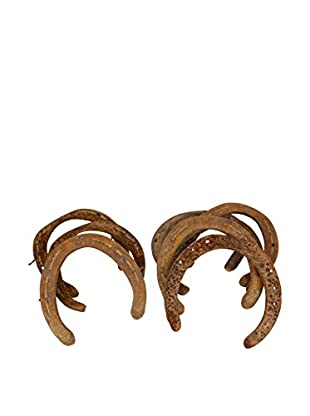Uptown Down Found Set of 8 Assorted Horseshoes, Brown