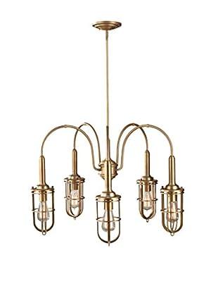Feiss 5-Light Chandelier, Dark Antique Brass