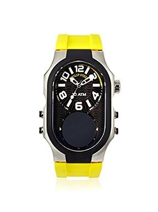Philip Stein Men's 3RB-AD-RY Signature Yellow/Black Rubber Watch