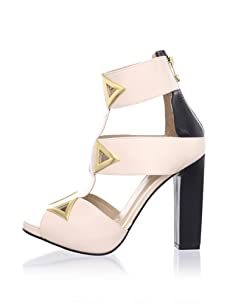 Kat Maconie Women's Sylvia Triangular Accent Peep Toe Sandal (Blush)